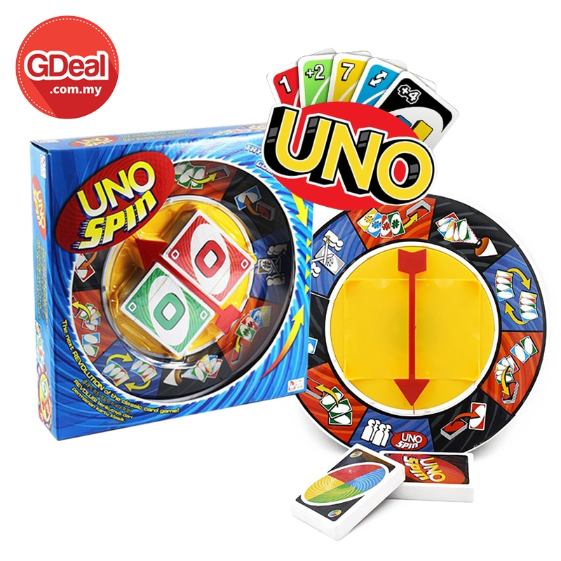 GDeal Revolution UNO Spin Family Fun Card Board Game Card Family Rebonding and Fun Gathering Games