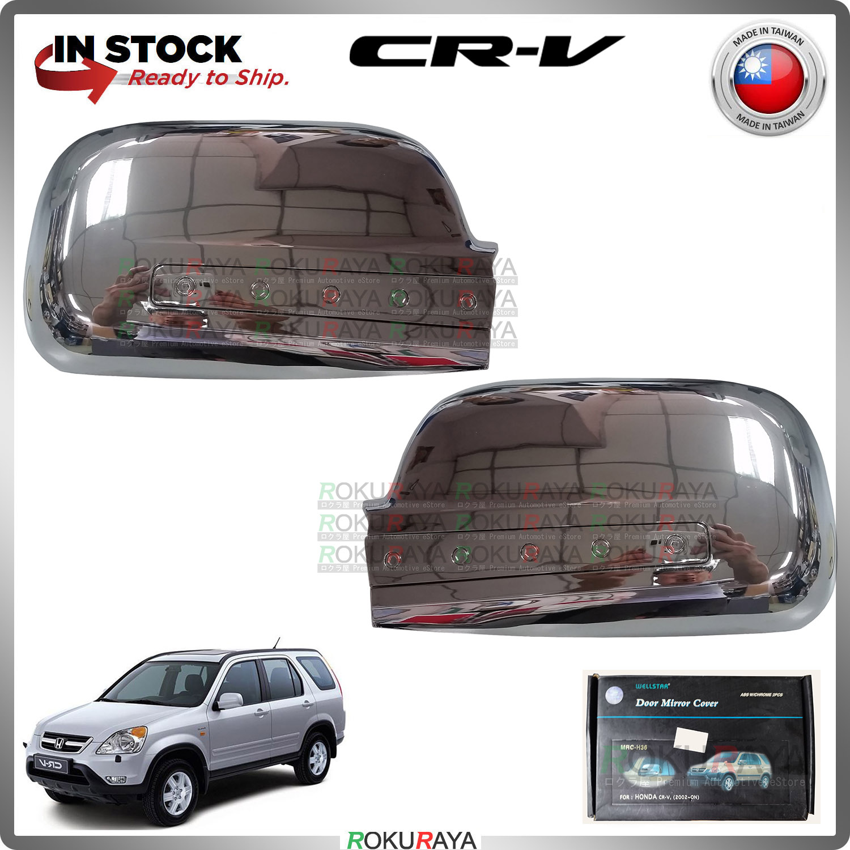 [CHROME] Honda CRV CR-V RD4-RD9 2002-2006 WELLSTAR ABS Plastic Door Side Mirror Garnish Moulding Cover Trim Car