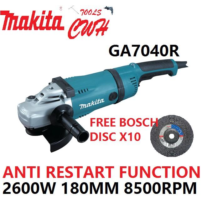 MAKITA GA7040R 2600W 180mm (7″) LARGE Angle Grinder CUTTER GRINDING CUTTING GA 7040 R GA7040 R