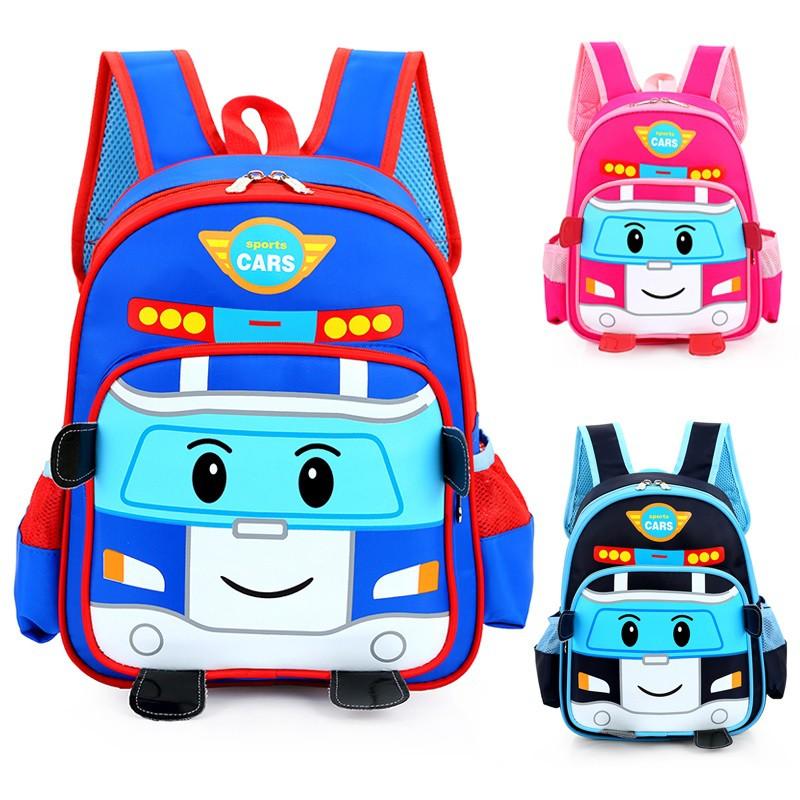 Kid robocar poli design school bag high quality backpack for Poli design