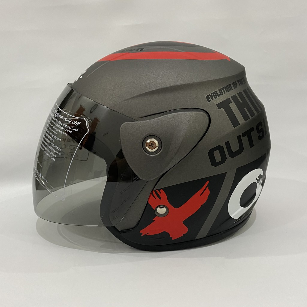 Evo Helmet Outside Gray Doff Nuvo Helem Sni Adult Helmet Motif - 017 |  Shopee Malaysia