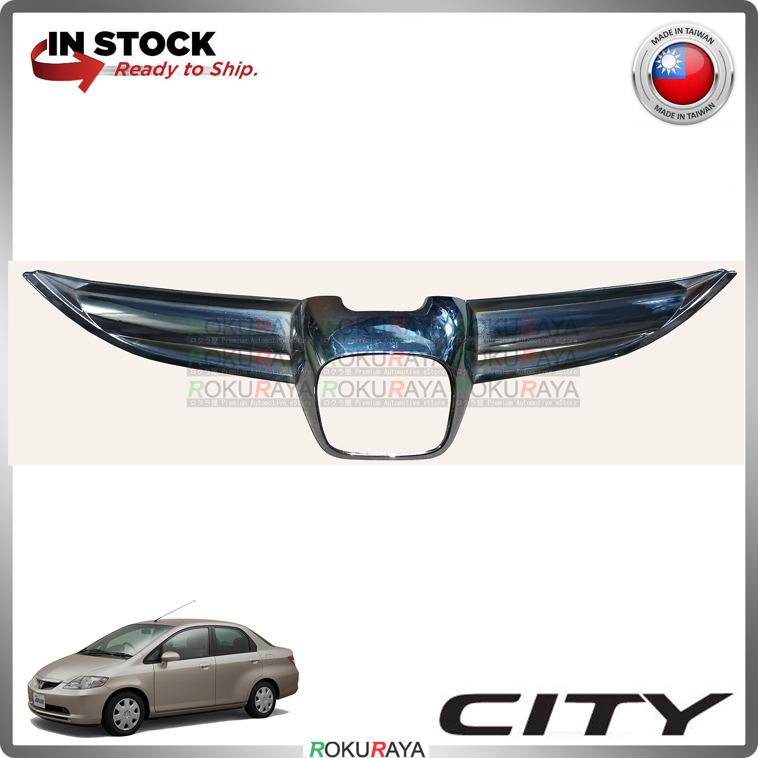 [CHROME] Honda City SEL 2003-2005 ABS Plastic Front Grille Sarong Garnish Moulding Cover Trim Car Aceesories Parts