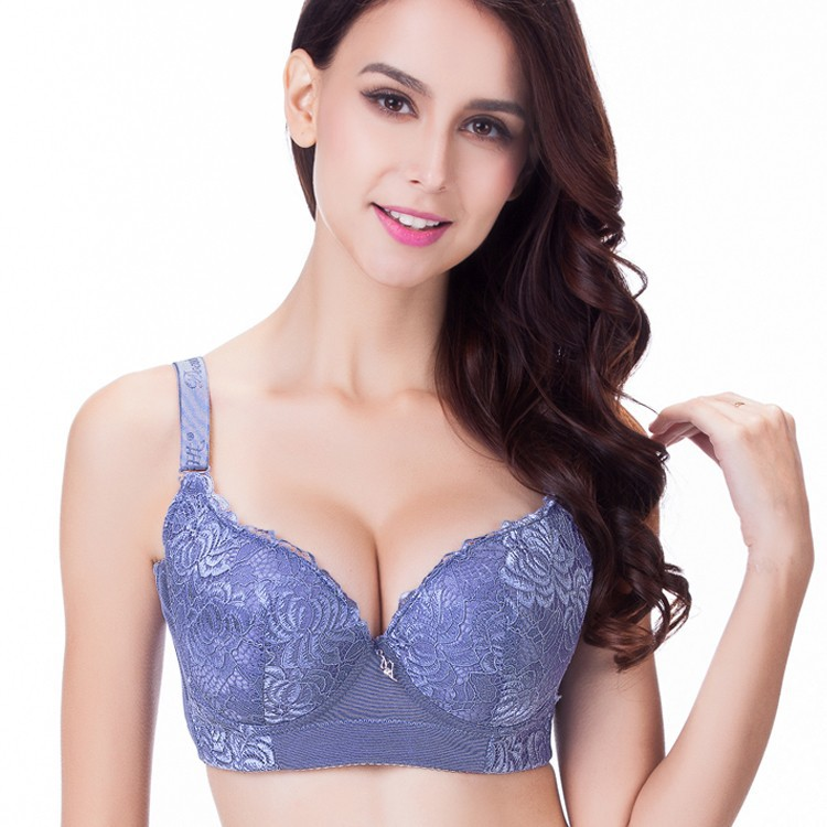 Ladies Soft Cup Bra Underwired Cream with Pale Pink /& Gray lace Size 34B,34C,34D