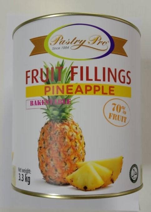 PastryPro Fruit Fillings Pineapple- 70% Fruit- (3.3g)