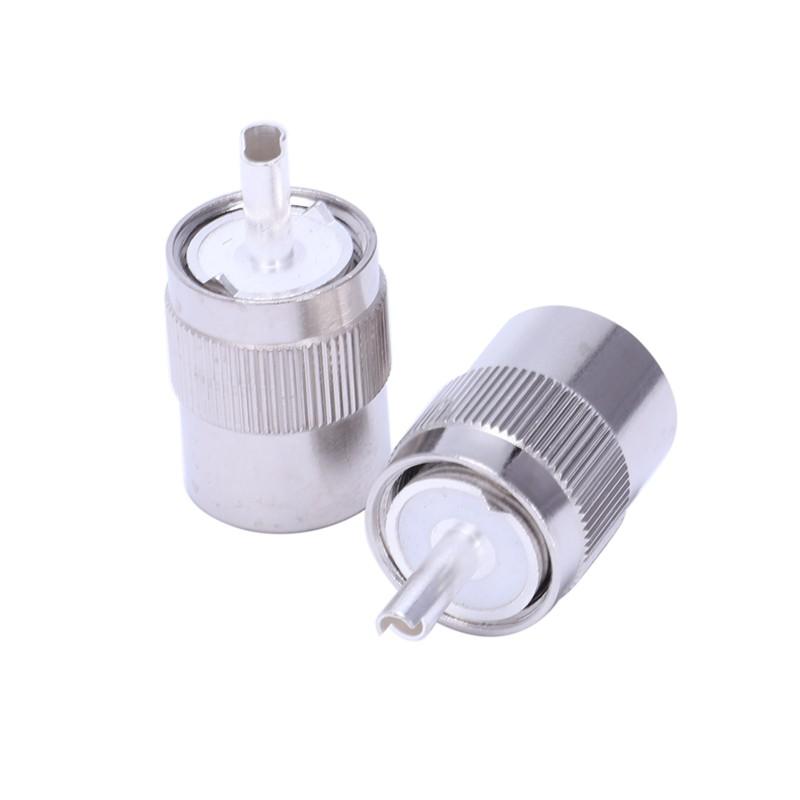 10Pcs Connector UHF Male PL259 Plug Solder RG8 RG213 LMR400 7D-FB Cable Silver