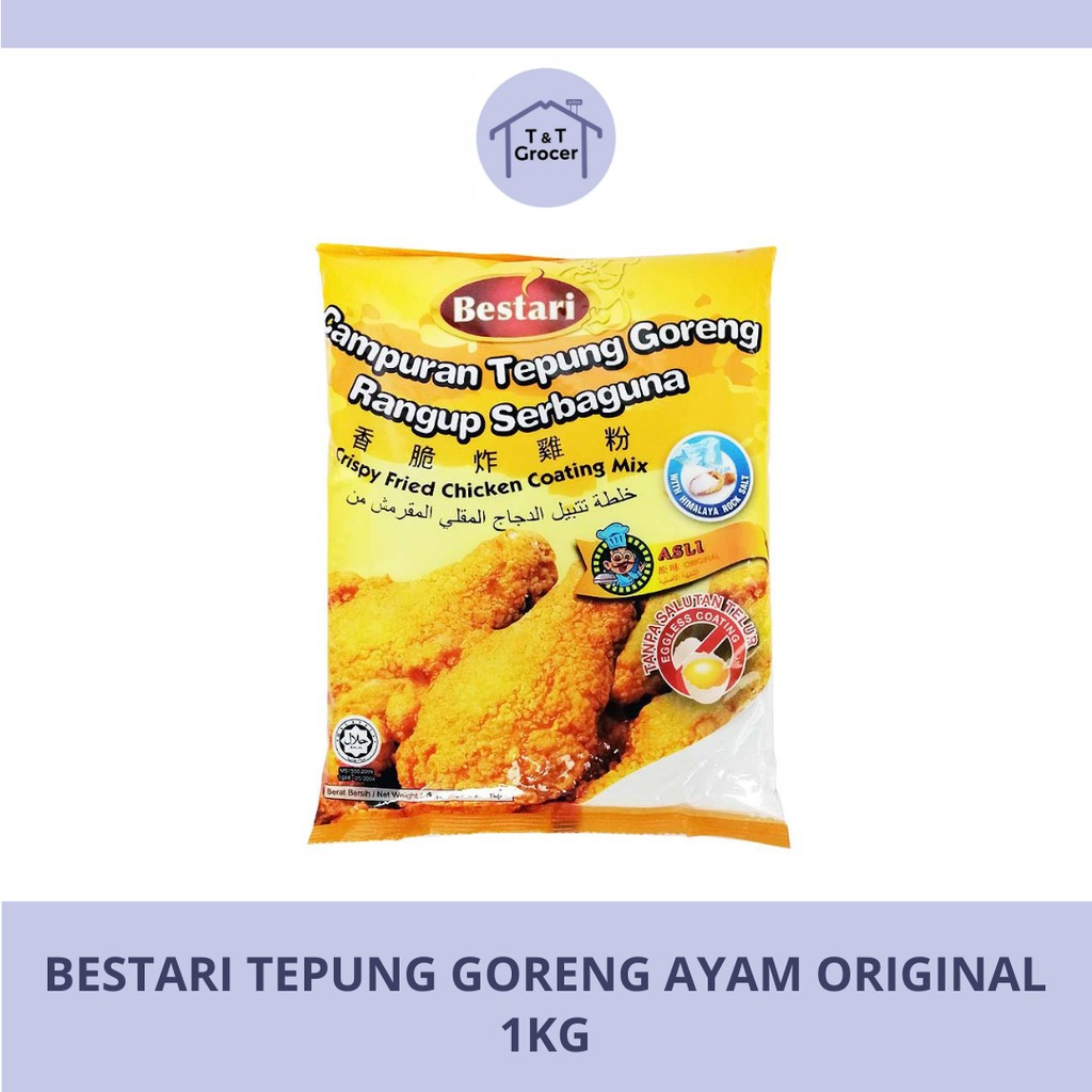Bestari Tepung Goreng Ayam 1kg (Asli/ Pedas)