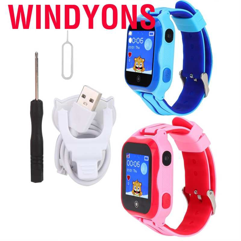 Windyons Children's Smart Watch Kids Waterproof GPS Positioning Alarm Clock Anti-Kids Lost Smartwatch with Two-w