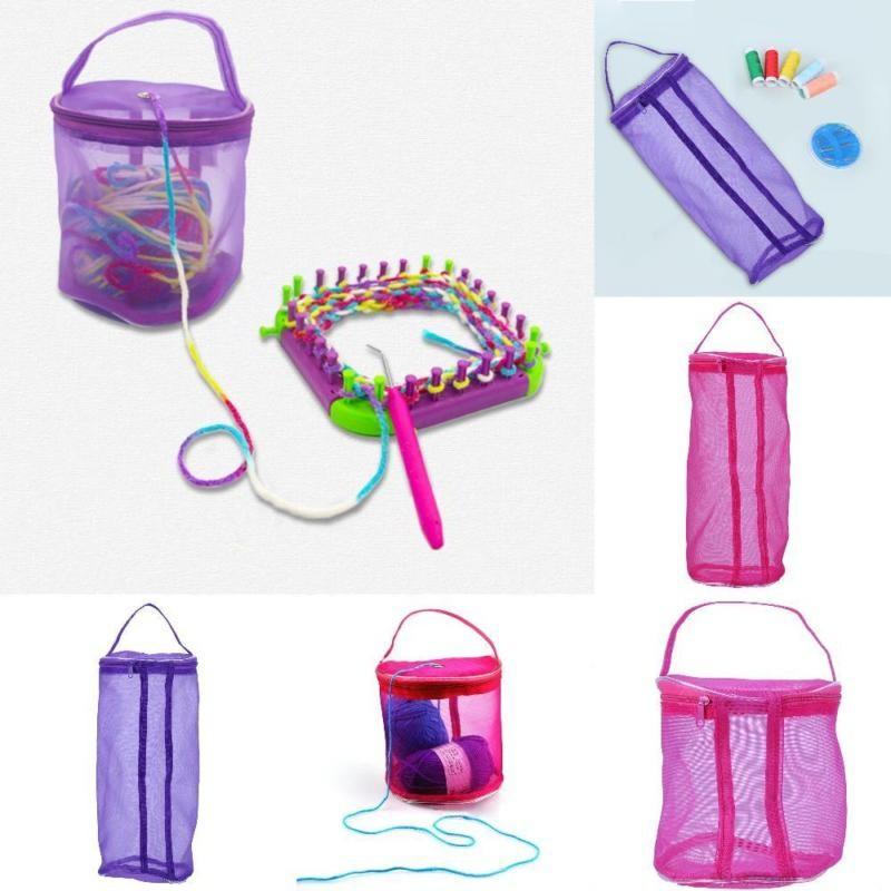 Mesh Bag DIY Hand Weaving Tools Yarn Storage Knitting Bag Organizer Hollow