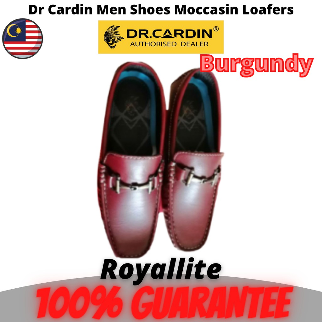 Dr.cardin Microfiber Leather Men Loafer With Character Detailing shoes (60311) Black & Burgundy