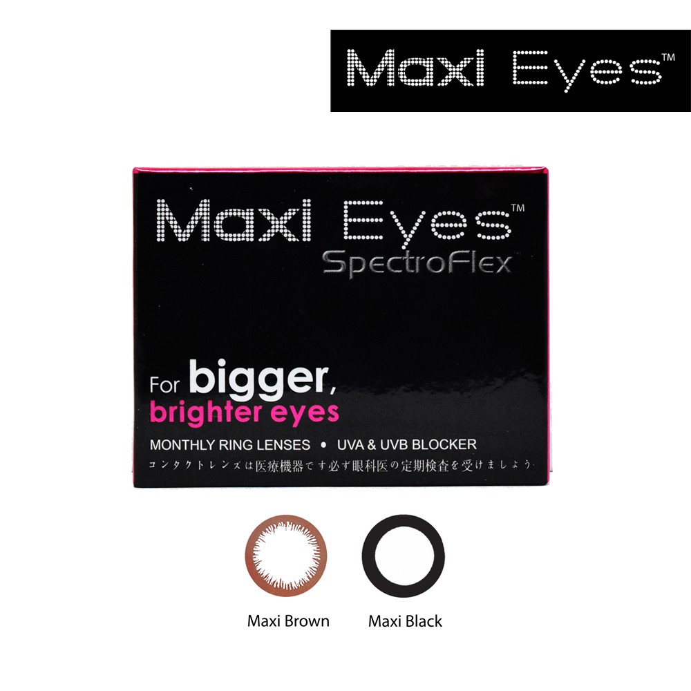MaxiEyes Ring Lens Monthly Contact Lens   Shopee Malaysia