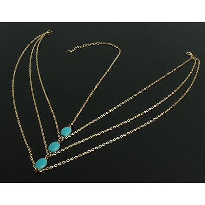 4082f9977f Fashion Women Metal Turquoise Beads Headband Head Chain Piece Hair Band  Jewelry