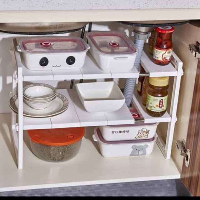 Sink Rack, Expandable Under Sink Multipurpose Kitchen Rack