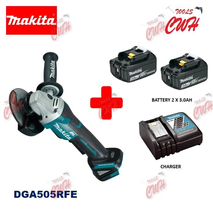 "MAKITA DGA505Z / DGA505RFE 18V CORDLESS ANGLE GRINDER 125MM (5"") ENGRAVING GRINDING MACHINE"