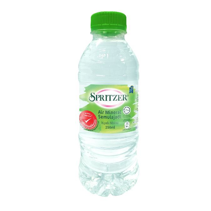 PACKAGE OF 5 CARTONS : SPRITZER NATURAL MINERAL WATER 250ML X 24 BOTTLES