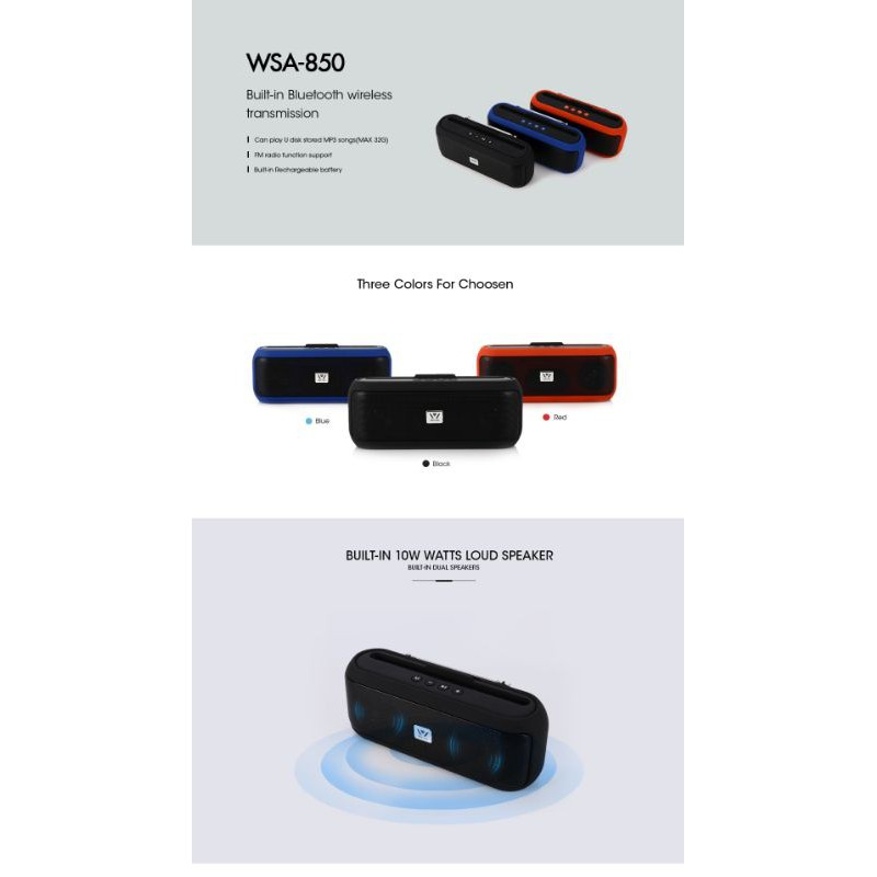 WSA - 850 DANIU BLUTOOTH SPEAKER WITH MOBILE HANDLE | Shopee Malaysia