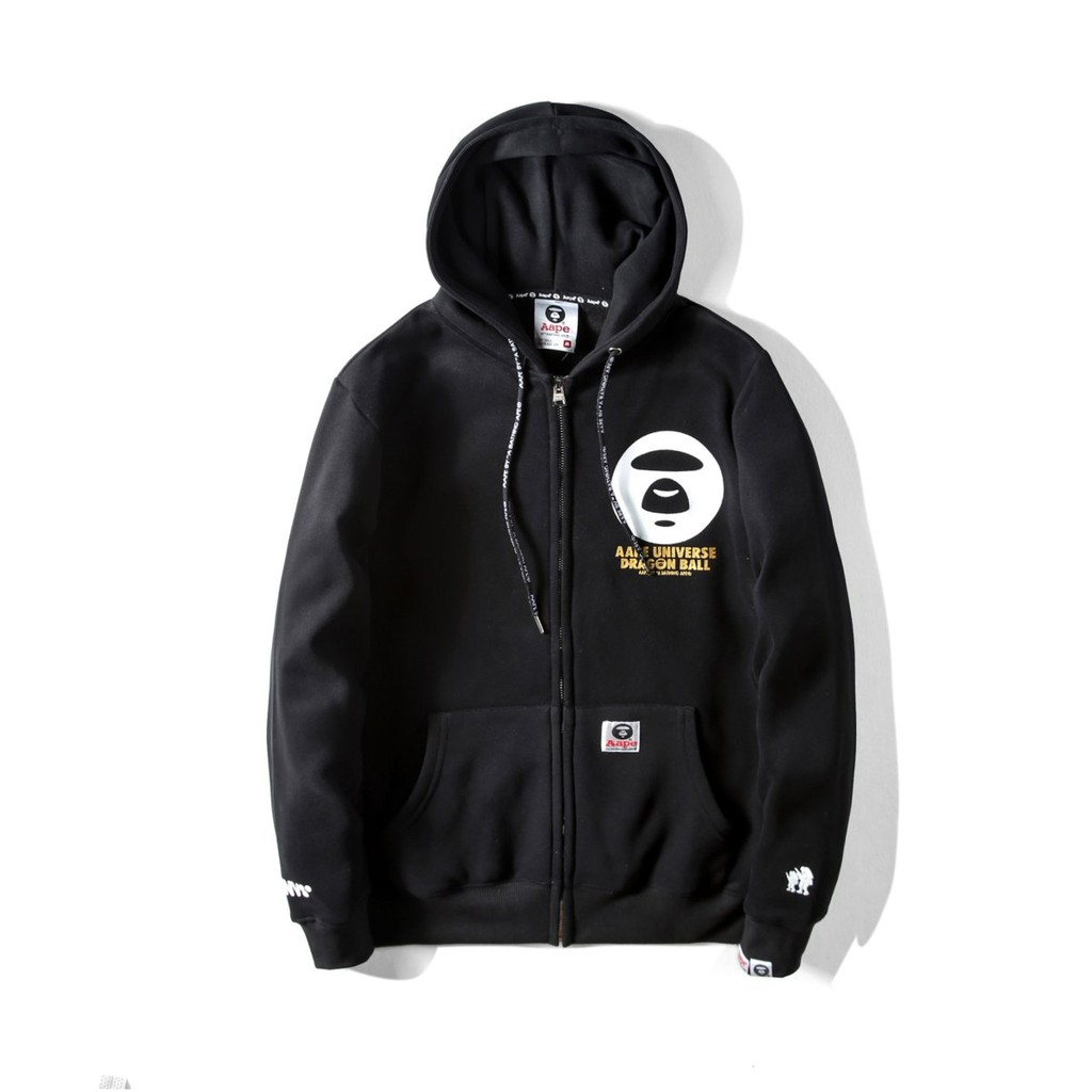 Aape Dragon Ball By A Bathing Ape Hooded Sweatshirt Jacket Gold Jaket Hoodie Spiderman Black Shopee Malaysia