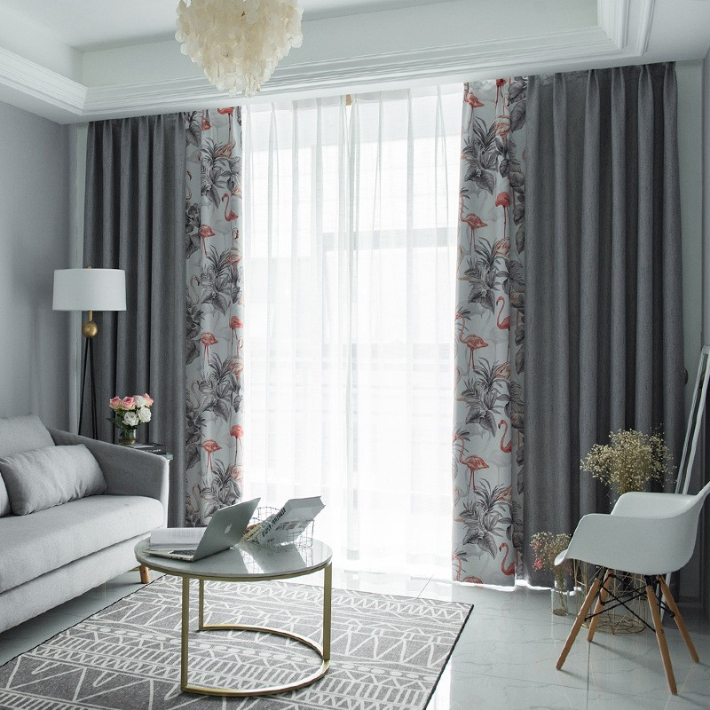 Modern Nordic Blackout Curtains Window, Living Room Curtains Modern