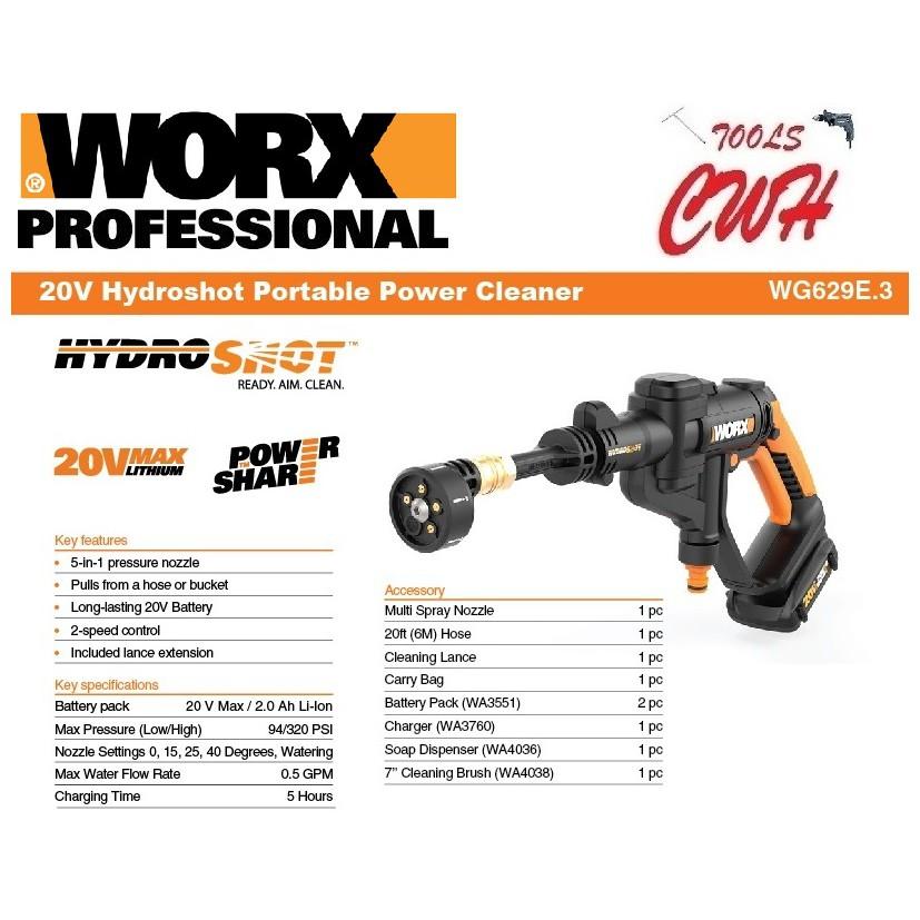 WORX 20-Volt 40-Volt Hydroshot Low Pressure Watering Short Extension