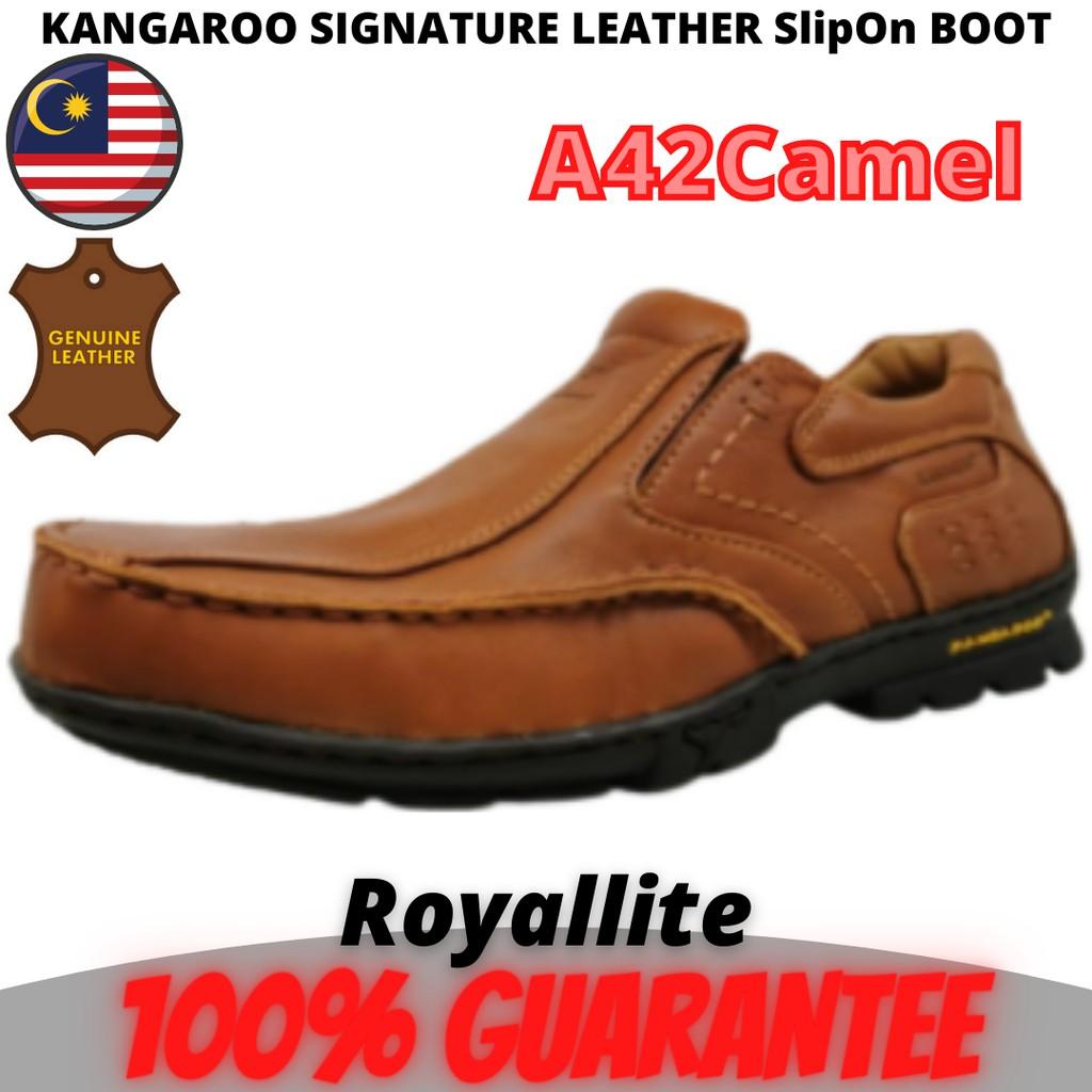 KANGAROO MEN SIGNATURE COMFORT LEATHER Boot (9015) A42Camel & A46Coffee