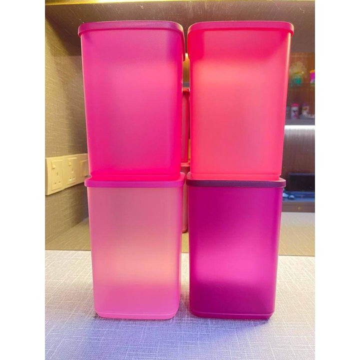 Tupperware So Fresh Tall Set 4x2.2L (So Fresh Set : Purple Pink SET) Vegetables Fruits Keeper and Storage Box