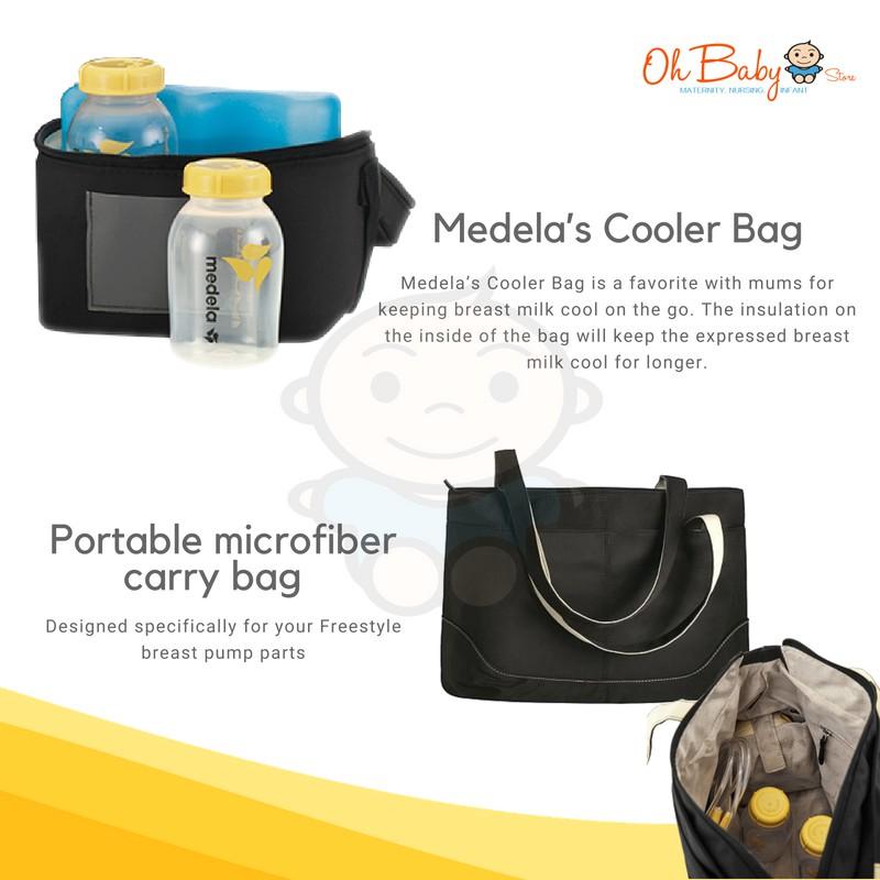 Medela Freestyle Breastpump Calma With Tote Bag Cooler Bag Set