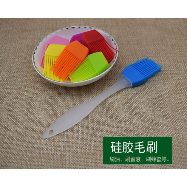 Silicone barbecue Brushes 17cm (Pastry Bread Oil Cream Brush, Baking Bakeware, BBQ and Cake Cooking Tools) 硅胶毛刷