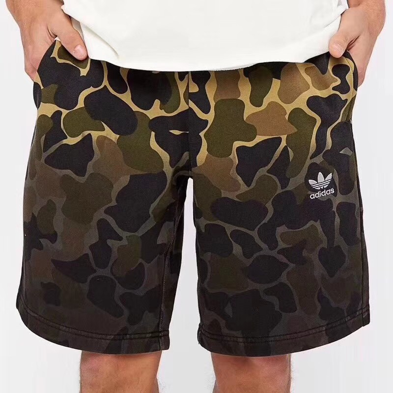 uk store newest style of cozy fresh Adidas men's camouflage shorts five-cent pants