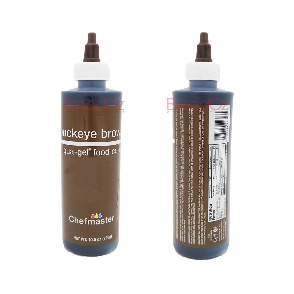 CHEFMASTER, PREMIUM FOOD COLORING, BUCK EYE BROWN