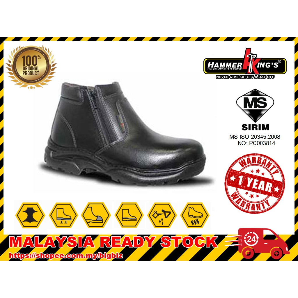 HAMMER KING\'S 13009 Safety Shoes Mid Cut Outdoor Safety Boots [Malaysia ready stock]
