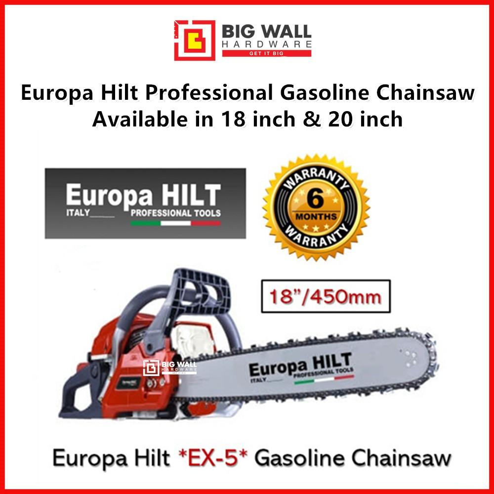 "Europa Hilt Professional Chainsaw  18"" / 20"" Gasoline EX5 Chainsaw 2.5KW Chain Saw Professional Series Big Wall Hardware"