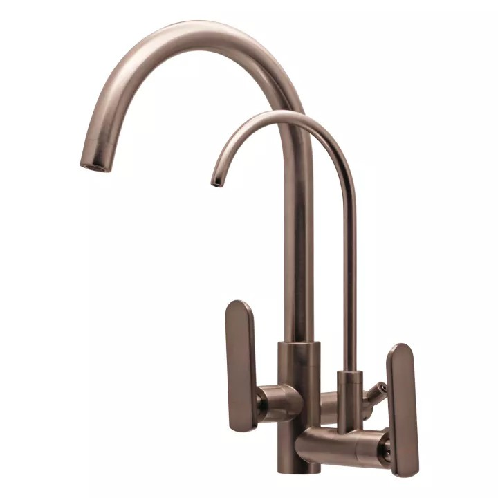 TORA Solid Brass Kitchen Wall Sink Tap with Filter Tap TR-TP-WS-00241-ST (Satin)