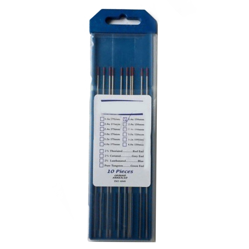 """ThO2 Tungsten Electrode WT20 1.6*150mm 1//16/"""" X6 /"""" Replacement TIG Welding 10PK"""