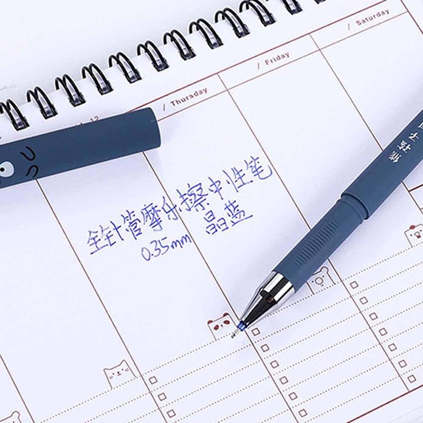 2 x Kawaii Cartoon Cat Gel Ink Pen Ballpoint 0.35mm Blue Ink Student Pens Gift