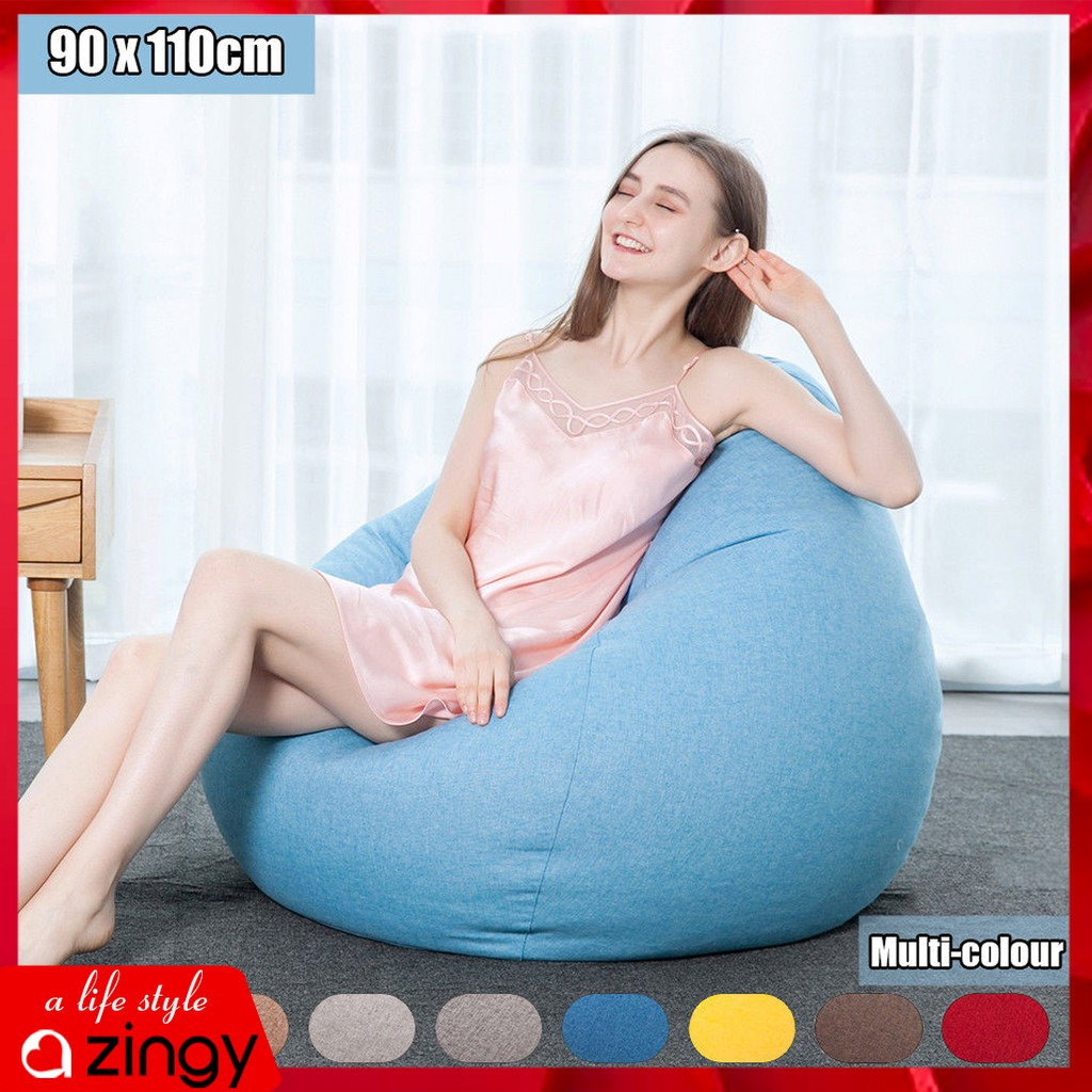 Lazy Bean Bag Chairs For Adults Sitting Couch Sofa Cover Indoor Game Seat Lounge