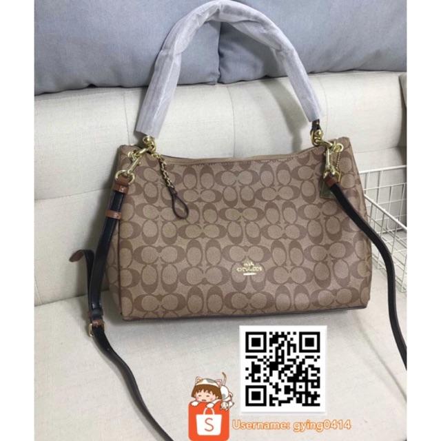 dfb90d189013 COACH MIA SHOULDER BAG IN SIGNATURE F28967 Brown Beg Women Handbag Crossbody