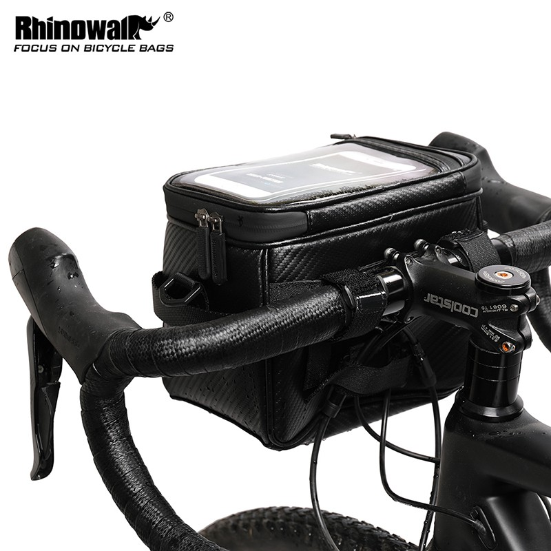 Bike Handlebar Bag Shoulder Bags Bicycle Front Tube Pouch with Touch Screen Pack