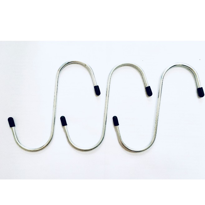 S Shaped Hooks Stainless Steel Hanger Clasp Rack With Hat For Clothes Pot Pan Kitchen Hooks Clasp Holder 5 PCS