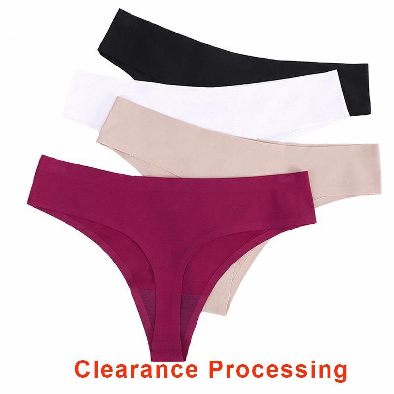 da8731e1780c women Cotton ice silk seamless underwear lace T-shaped low waist briefs    Shopee Malaysia