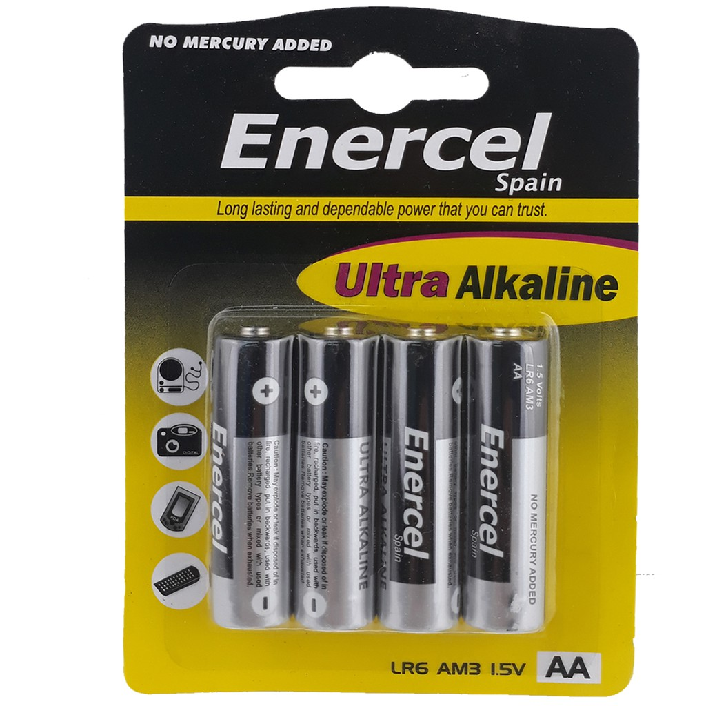 Enercel Battery AA Ultra Alkaline LR6 AM3AA