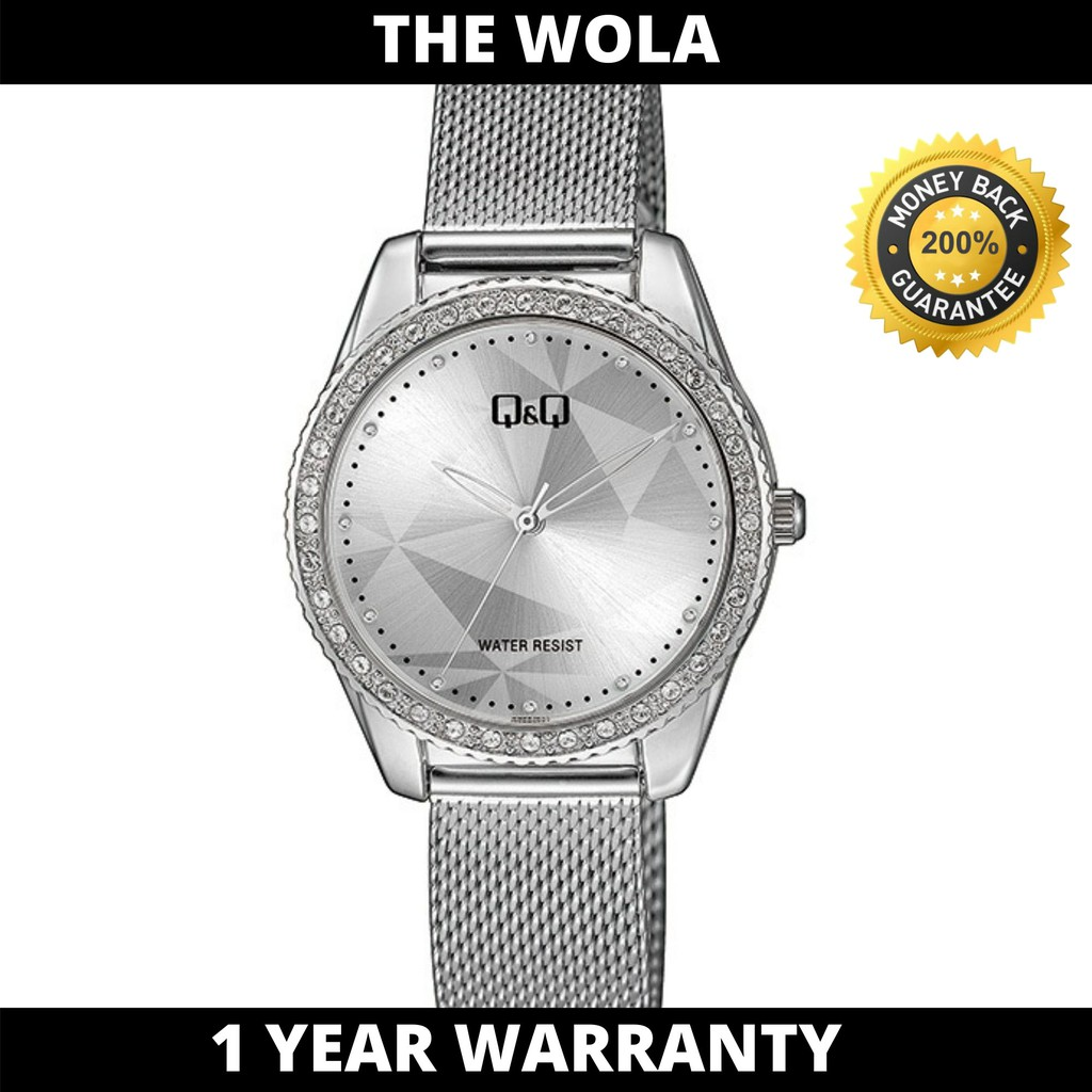 Q&Q Japan by Citizen Ladies' Stainless Steel MESH Analogue Watch QZ59J241Y
