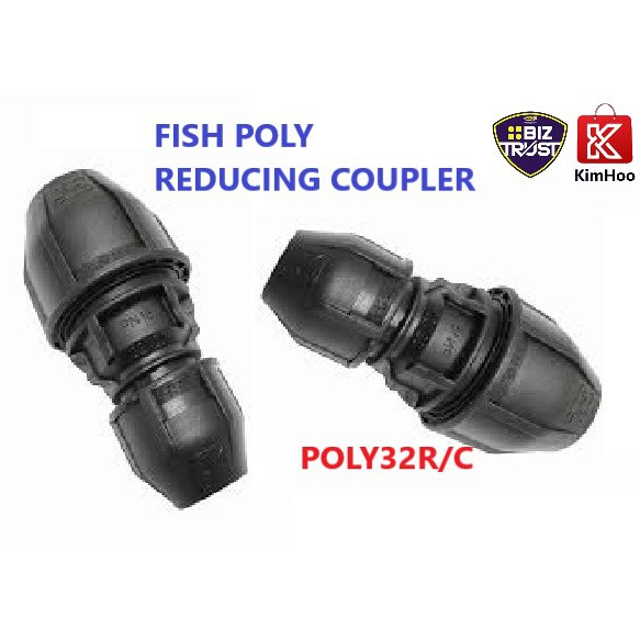 HEAVY DUTY POLY REDUCING COUPLER 32mm x 25mm