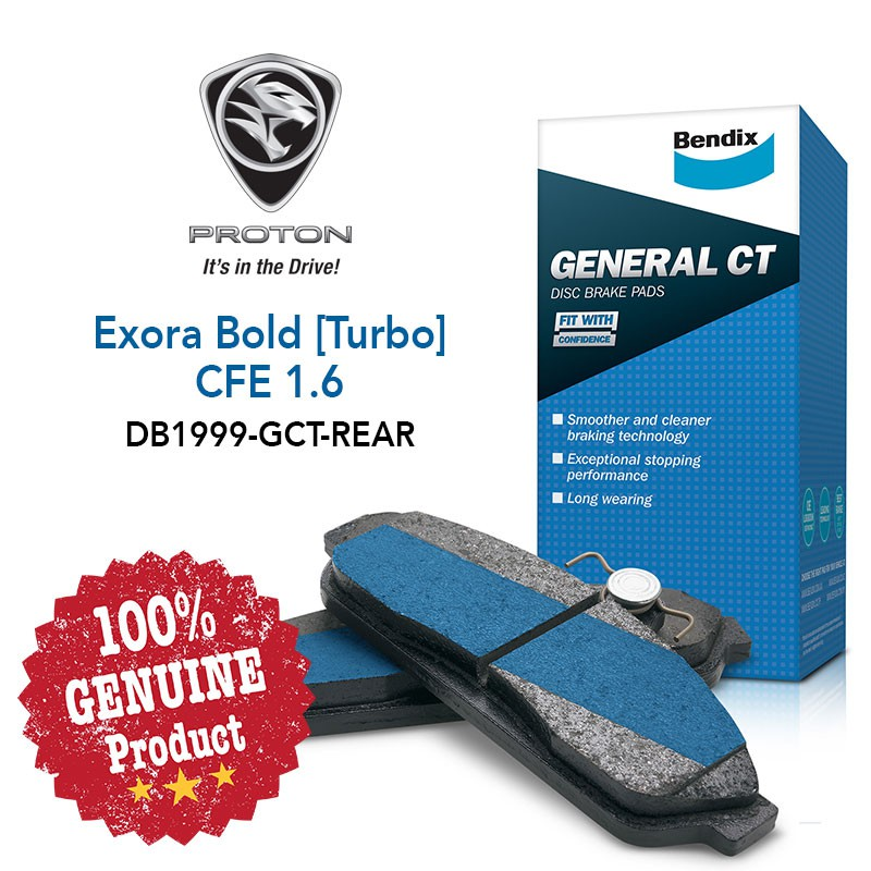 Original Bendix [DB1999GCT] Rear Brake Pad - Proton Exora Bold [Turbo CFE  1 6]