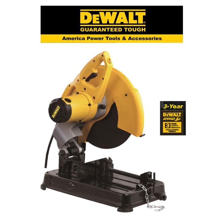 DEWALT D28720 - 355MM CHOP SAW 2200 WATTS KEYLESS BLADE CLAMP KEYED BLADE CLAMP ABRASIVE WHEEL + SPANNER