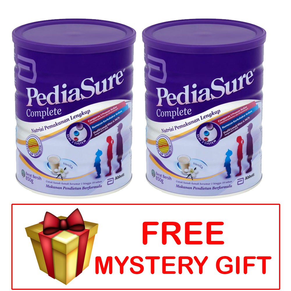 Pediasure Complete Vanilla Milk Powder 850G X 2 Units + FREE GIFT