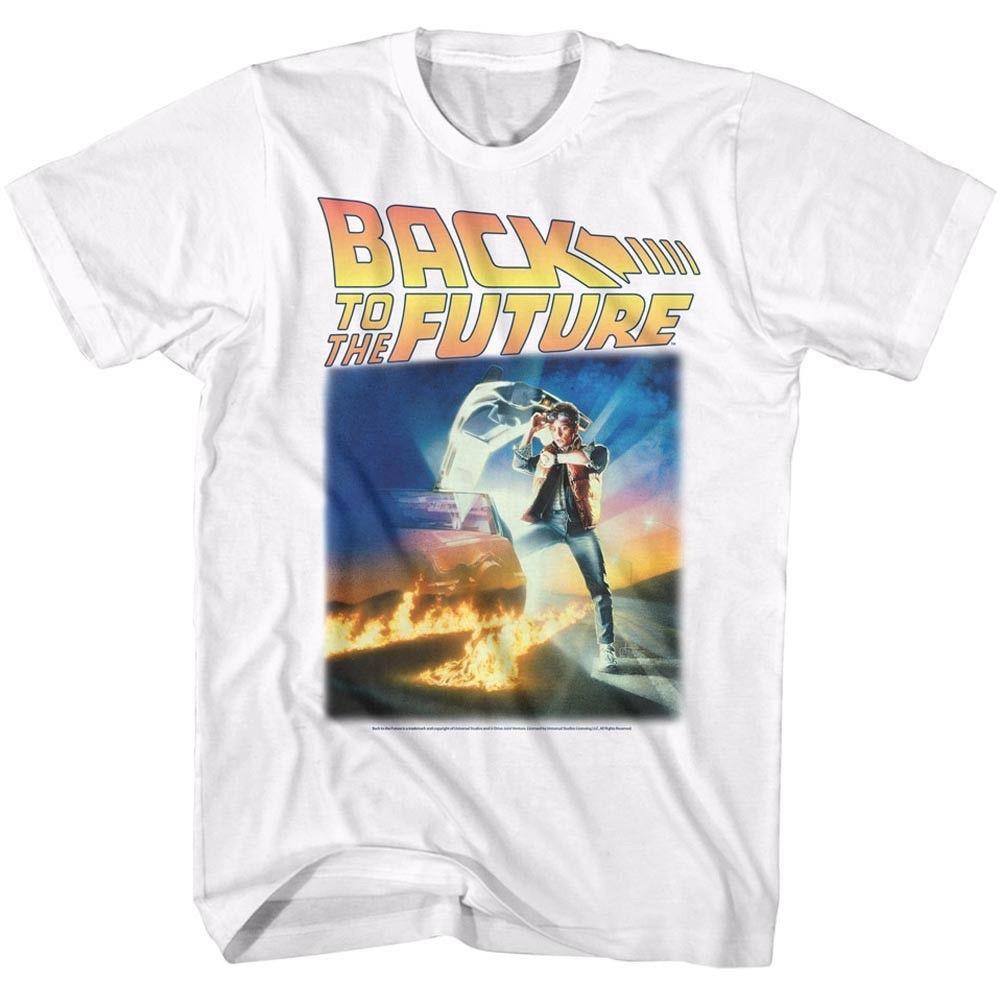 Bttf Movie Poster Adult Black Back 100/% Poly T-shirt