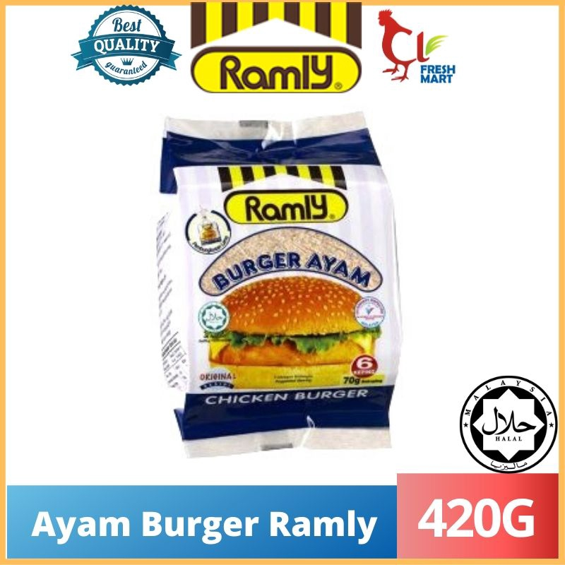 Original Ramly Chicken Burger (420g) 70g/6pcs