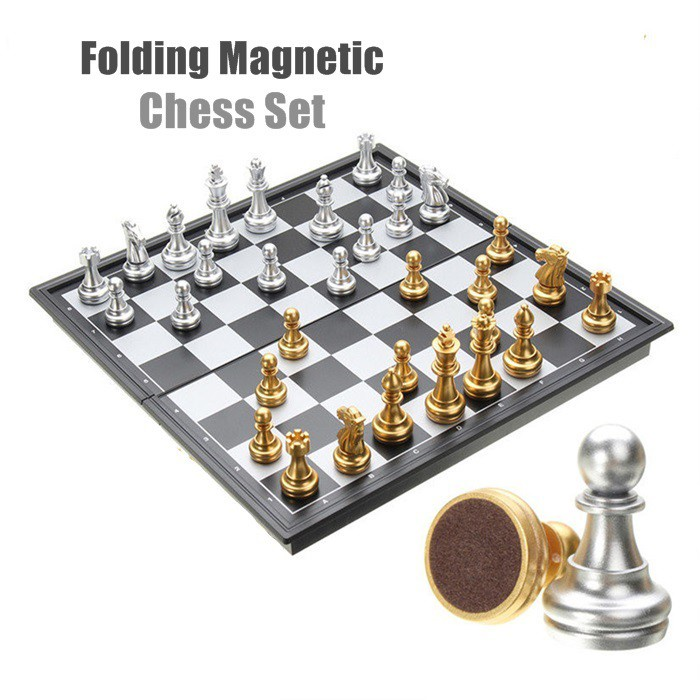 [ Best Buy ] Folding Magnetic Travel Chess Set For Kids Or Adults Chess Board Game
