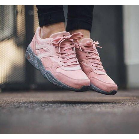 New Arrival Puma Trinomic R698 Coral Cloud Pink Badminton Shoes Sneakers