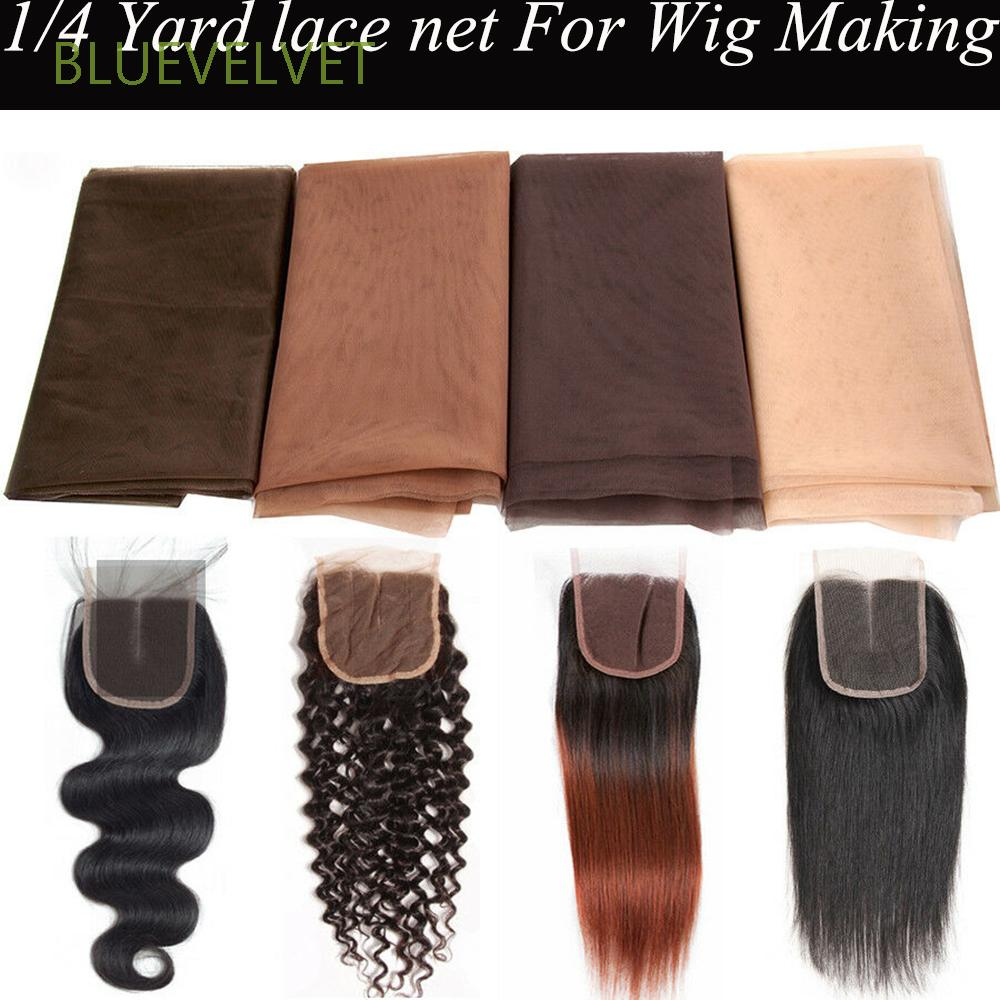 BLUEVELVET 8/8 Yard Wig Accessories For Wig Making Hair Net Wig Base Hair  Accessories Front Lace Ventilating Wig Cap Toupee Frontal Closure Net Swiss
