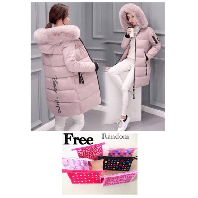 a7f5e65b58e9 [ 🇲🇾 ready stock ] Winter Coat Large Collar Hoody Parka / Disneyland  Fashion Winter jacket coat